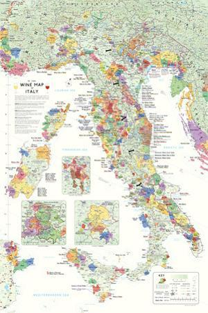 Italy Wine Map Poster