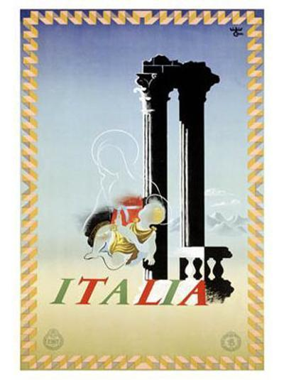 Italy-Adolphe Mouron Cassandre-Giclee Print