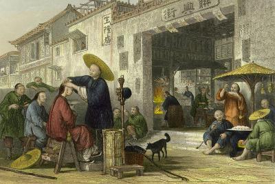 Itinerant Barber-Thomas Allom-Art Print