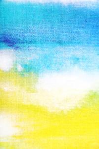 Abstract Textured Background: White and Yellow Patterns on Blue Sky-Like Backdrop. for Art Texture, by iulias