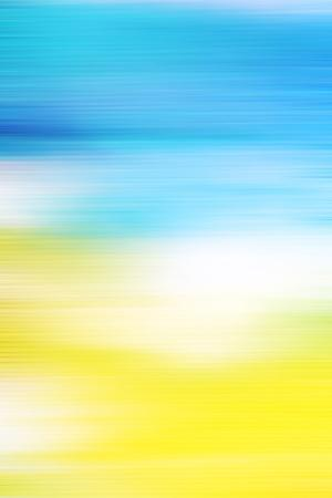 Abstract Textured Background: White and Yellow Patterns on Blue Sky-Like Backdrop
