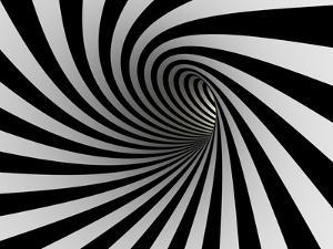 Tunnel Of Black And White Lines by iuyea