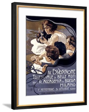 IV Esposizione Triennale di Belle Arti, Milano-Adolfo Hohenstein-Framed Giclee Print