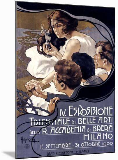 IV Esposizione Triennale di Belle Arti, Milano-Adolfo Hohenstein-Mounted Giclee Print