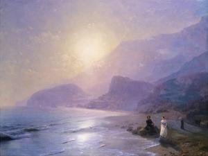Pushkin at the Water's Edge by Ivan Aivazovsky
