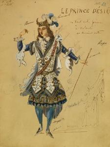 Costume Design for the Ballet Sleeping Beauty, 1890 by Ivan Alexandrovich Vsevolozhsky