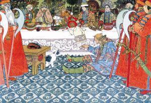 Feast by Ivan Bilibin