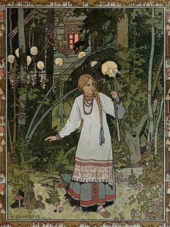 "Vassilissa in the Forest, Illustration from the Russian Folk Tale, ""The Very Beautiful Vassilissa"""