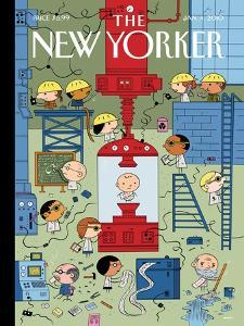 The New Yorker Cover - January 4, 2010 by Ivan Brunetti