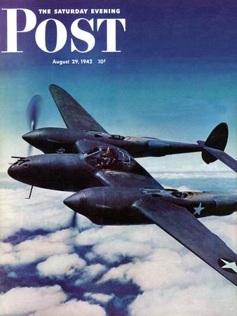 """""""Airborne Bomber,"""" Saturday Evening Post Cover, August 29, 1942"""