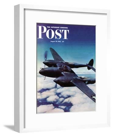 """Airborne Bomber,"" Saturday Evening Post Cover, August 29, 1942"