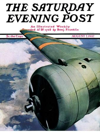 """""""Propeller,"""" Saturday Evening Post Cover, August 7, 1937"""