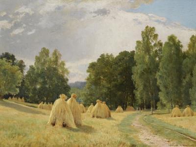 Haystacks, Preobrazhenskoe by Ivan Ivanovich Shishkin