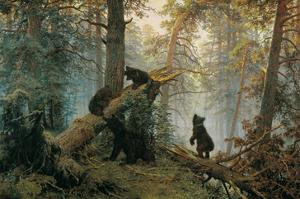 Bears in the Forest Morning by Ivan Ivanovitch Shishkin