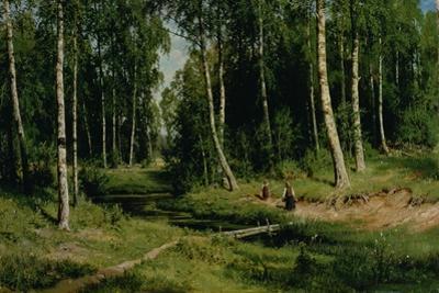 In the Birch Tree Forest, 1883 by Ivan Ivanovitch Shishkin