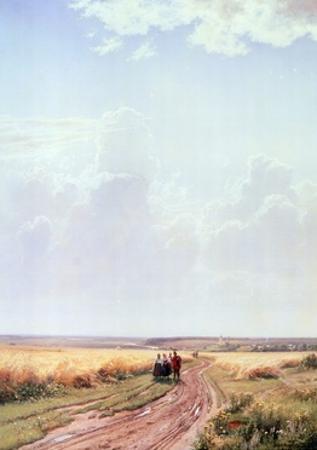 Noon Near Moscow, 1869 by Ivan Ivanovitch Shishkin