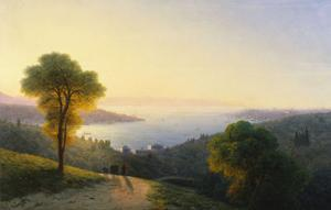 A View of the Bosphorus from the European Side Above the Palace of the Dolmabache, the Seraglio… by Ivan Konstantinovich Aivazovsky