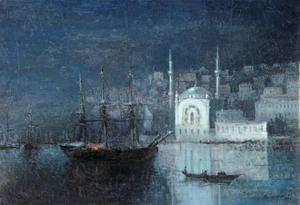Constantinople by Night by Ivan Konstantinovich Aivazovsky