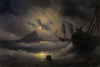 Gibraltar by Night, 1844 by Ivan Konstantinovich Aivazovsky