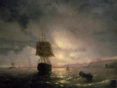Harbour at Odessa on the Black Sea, 1852 by Ivan Konstantinovich Aivazovsky