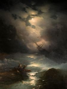 North Sea Storm, 1865 by Ivan Konstantinovich Aivazovsky