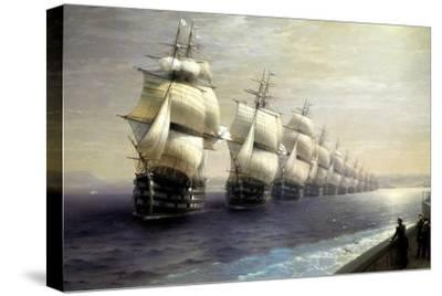 Parade of the Black Sea Fleet in 1849, 1886