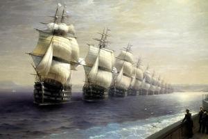 Parade of the Black Sea Fleet in 1849, 1886 by Ivan Konstantinovich Aivazovsky
