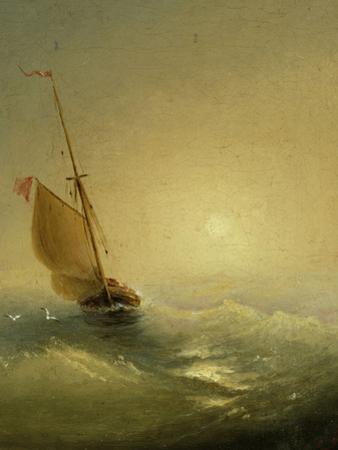 Sailing Barge at Sunset, 1856 by Ivan Konstantinovich Aivazovsky