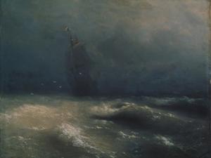 Storm at the Seashore by Nice, 1885 by Ivan Konstantinovich Aivazovsky