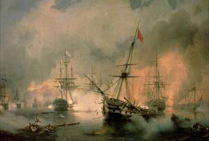 The Battle of Navarino, 20th October 1827, 1846 by Ivan Konstantinovich Aivazovsky