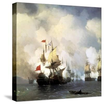 The Naval Battle of Chesma on 5th July 1770, 1848