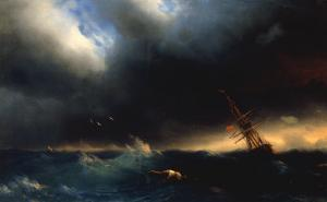 The Survivor, 1853 by Ivan Konstantinovich Aivazovsky
