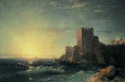 The Towers at Bosporus by Ivan Konstantinovich Aivazovsky