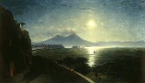 View of the Bay of Naples with the Castel del'Ovo as seen from Posillipo, 1892 by Ivan Konstantinovich Aivazovsky