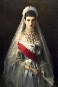 Portrait of Empress Maria Feodorovna, Princess Dagmar of Denmark, (1847-192) by Ivan Kramskoy