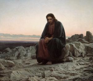 Christ in the Wilderness by Ivan Nikolaevich Kramskoi