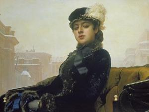 The Unknown Person, 1883 by Ivan Nikolaevich Kramskoi