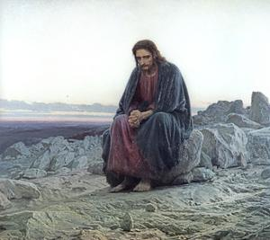 Christ in the Wilderness, 1873 by Ivan Nikolaevich Kramskoy