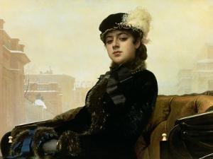 Portrait of an Unknown Woman, 1883 by Ivan Nikolaevich Kramskoy