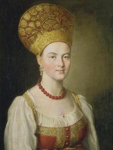 Peasant Woman in Russian Costume, 1784 by Ivan Petrovich Argunov
