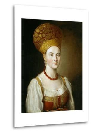 Portrait of a Woman in Traditional Russian Costume