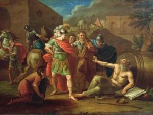 Alexander the Great Visits Diogenes at Corinth, 1787 by Ivan Philippovich Tupylev