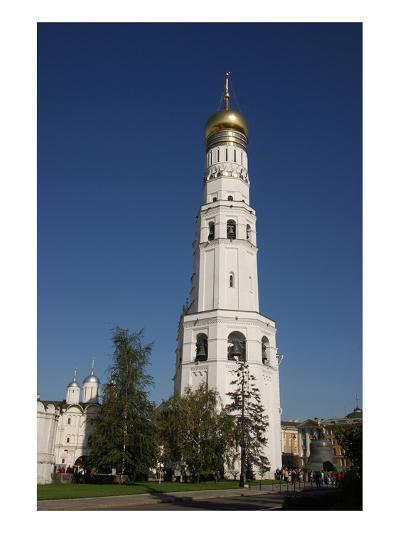 Ivan the Great Bell Tower at the Cathedral Square on the grounds of the Moscow Kremlin--Art Print