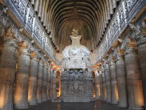 Cave 26, Chaitya, Unesco World Heritage Site, Ajanta, Maharashtra, India by Ivan Vdovin