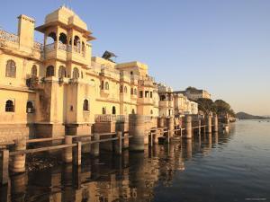 Gangaur Ghat, Pichola Lake, Udaipur, Rajasthan, India by Ivan Vdovin
