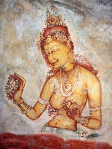 Mural Painting (6th Century), Sigiriya, Sri Lanka by Ivan Vdovin