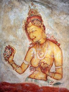 Mural Painting (6th Century), Sigiriya, Sri Lanka by Ivan Vdovin