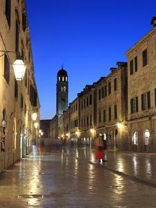 Old Town in the Evening, Stradun, Dubrovnik, Dalmatia, Croatia by Ivan Vdovin