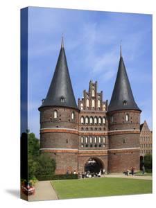 Town Gate Holstentor, Lubeck, Schleswig-Holstein, Germany by Ivan Vdovin