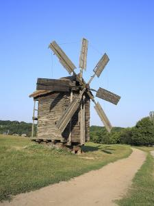 Wooden Windmill, Pirogovo, Near Kiev, Ukraine by Ivan Vdovin